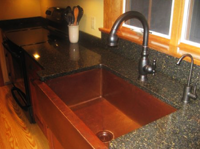 Pam & Joe's Copper Farmhouse Sink