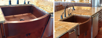 Julie S' Copper Farmhouse Sink
