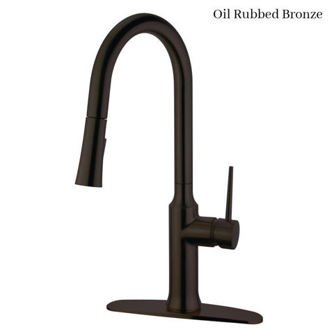 Kingston Brass Gourmetier New York Single Post Pull-Down Kitchen Faucet