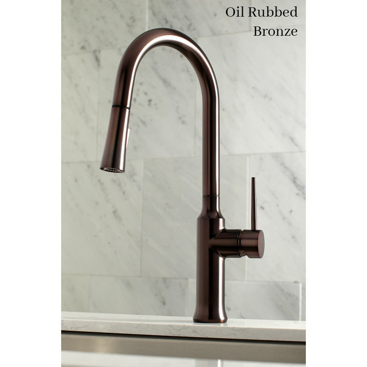 Kingston Brass New York Deck Mount Faucet LS2725NYL - Oil Rubbed Bronze - no escutcheon plate