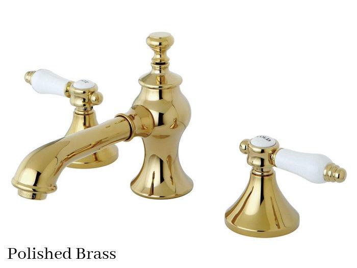 Kingston Brass Bel-Air Widespread Bathroom Faucet KC7062BPL Polished Brass