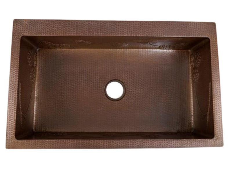 Picture of Copper Kitchen Sink - Pine Cone by SoLuna