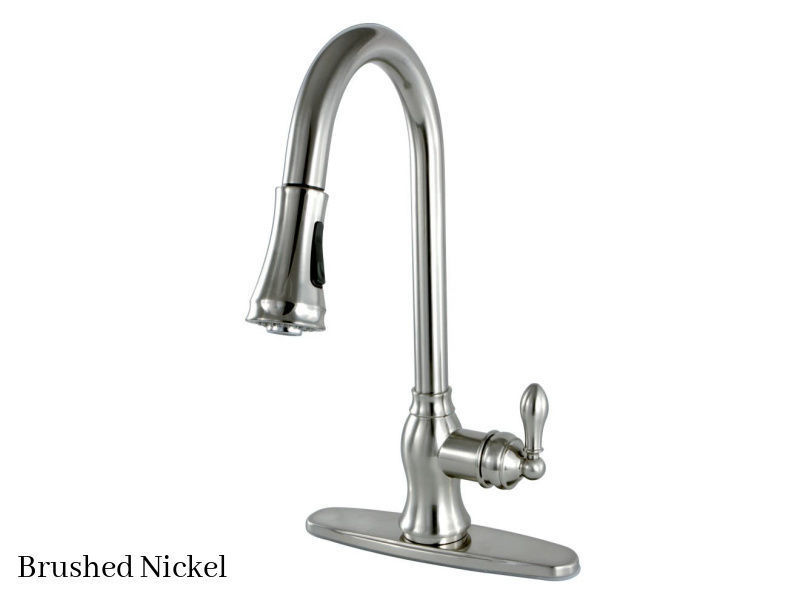 Kingston Brass American Classic Kitchen Faucet GSY7778ACL Brushed Nickel Finish