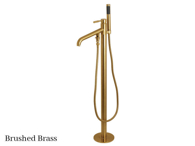 Kingston Brass Concord Floor Mount Tub Filler Faucet KS8137DL Brushed Brass Finish