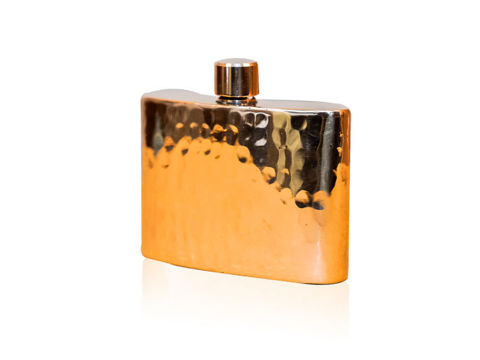 Horizon Polished Copper Rectangular Hip Flask By SoLuna
