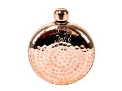 Picture of Horizon Polished Copper Round Hip Flask By Soluna