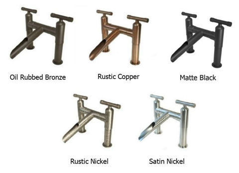 Sonoma Forge | Bathroom Faucet | Wherever Cap Spout | Widespread | Deck Mount