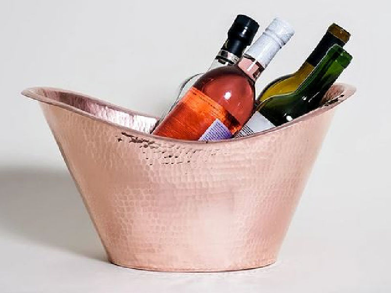 Picture of Polished Copper Beverage Cooler By SoLuna