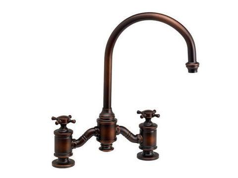 Waterstone Hampton Bridge Kitchen Faucet - Cross Handles