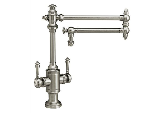 """Picture of Waterstone Towson Kitchen Faucet with Double Handles  - 18"""" Articulated Spout"""