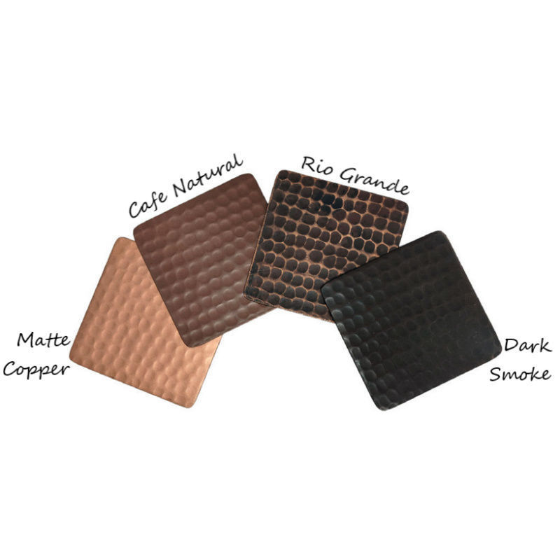 Picture of Copper Finish Samples Set of 4