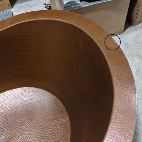 Picture of Cafe Natural Double-Wall Boat Style Copper Bathtub by SoLuna - SALE