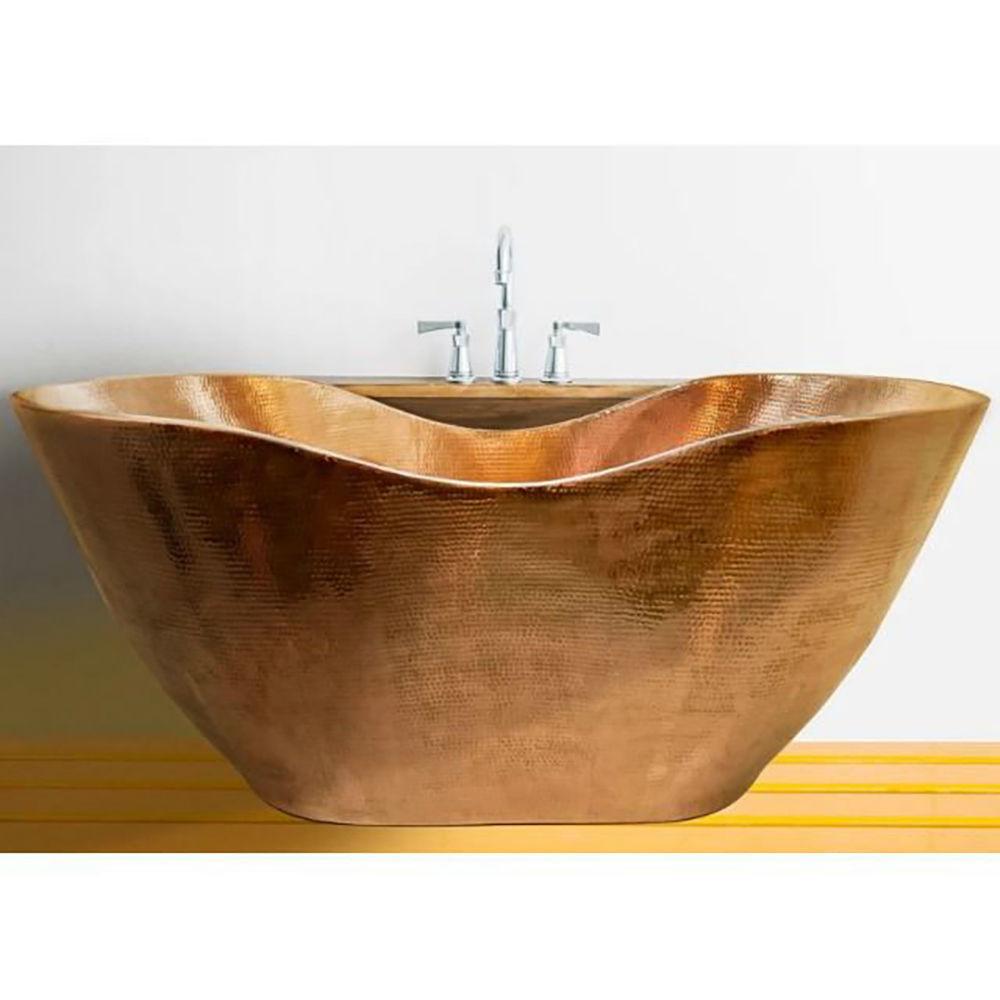 Merida Double-Wall Boat Style Copper Bathtub by SoLuna