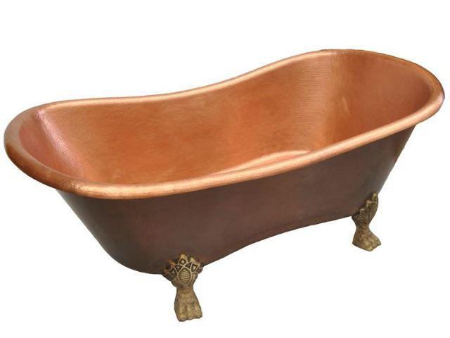 Nicole Clawfoot Copper Bathtub by SoLuna