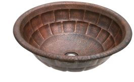 Copper Vessel Sink With Tortoise Design