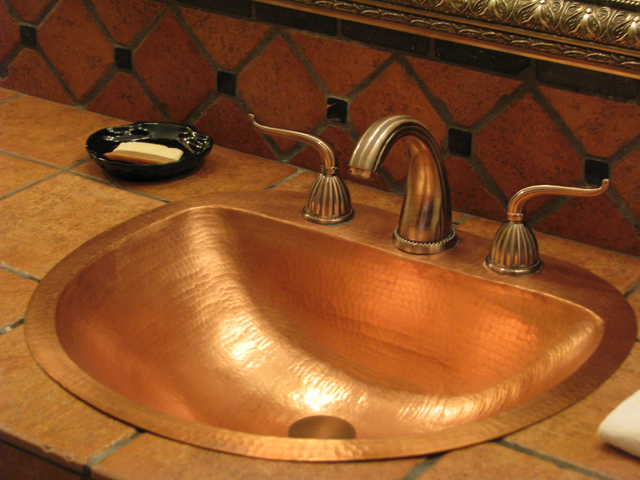 CS3000L15 Large Durango Copper Bath Sink - Matte Copper