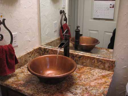 CS0001M15 Copper Bath Sink - Cafe Natural