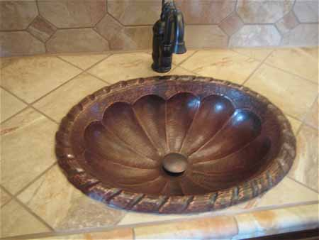 CS1003L15-20 Copper Bath Sink - Rio Grande