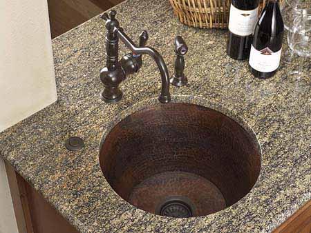 Copper Kitchen Sink   Dark Smoke Finish