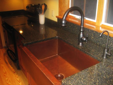 CK7500M35-F Farmhouse Copper Sink - Cafe Natural